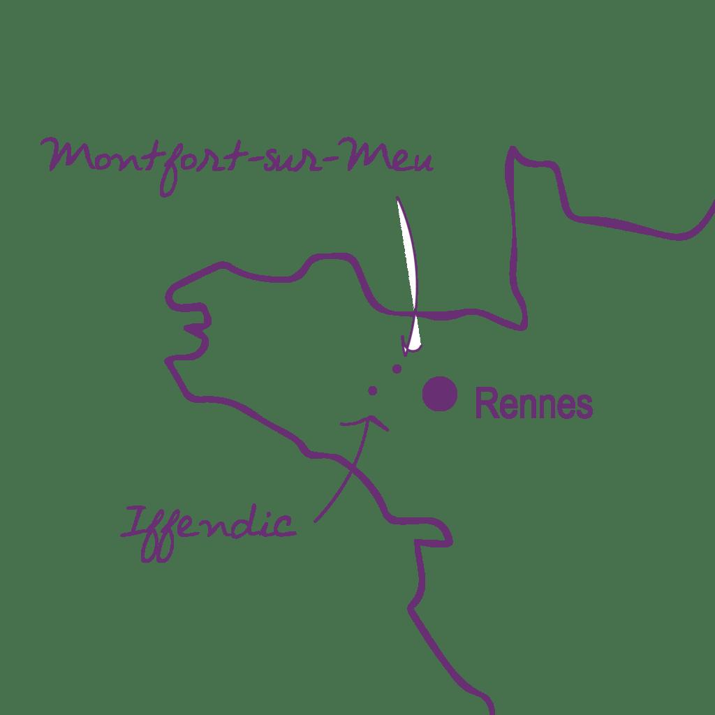 carte situation - violet - Lac de Tremelin