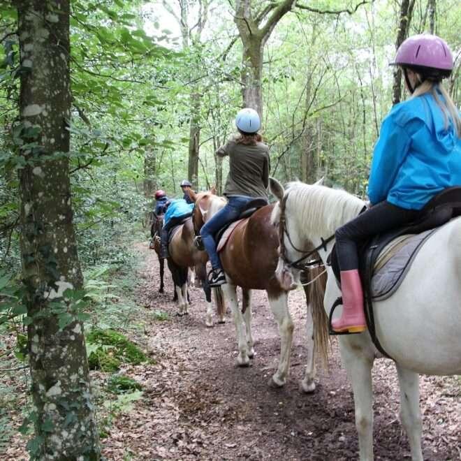 Balade à cheval Lac de Trémelin