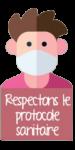 Respect protocole sanitaire - emoji - Lac de Trémelin